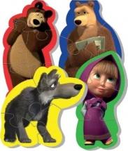 """Мягкие пазлы """"Маша и Медведь. Волк"""" Vladi Toys"""