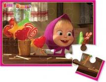 """Мягкие пазлы Vladi Toys """"Маша и медведь. Маша с конфетами"""" 12 эл"""