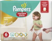 Трусики Pampers Premium Care 6 (15+ кг) 36 шт