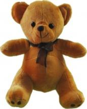 Мягкая игрушка TashaToys Медведь с бантом 20 см