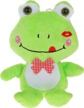 Мягкая игрушка TashaToys Лягушка с бантом 20 см