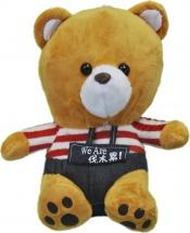 Мягкая игрушка TashaToys Медведь в штанишках 20 см
