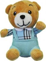 Мягкая игрушка TashaToys Медведь в штанах 17 см