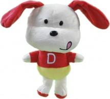 Мягкая игрушка TashaToys Собака с буквами 20 см