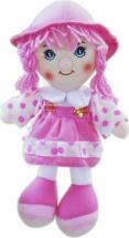 Кукла TashaToys в шляпке и сарафане №3 27 см