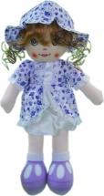 Кукла TashaToys в панаме с кудрявыми волосами №3 35 см