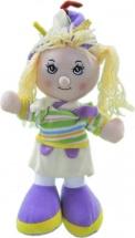 Кукла TashaToys в полосатой кофте с шарфом 25 см