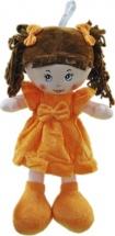 Кукла TashaToys в платье из велюра и бантом №2 42 см