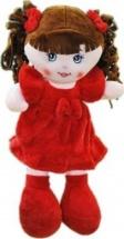Кукла TashaToys в платье из велюра и бантом №3 35 см