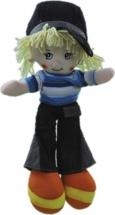 Кукла TashaToys Мальчик в джинсах и кофте 35 см