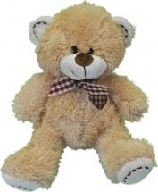 Мягкая игрушка TashaToys Медведь с бантом 18 см