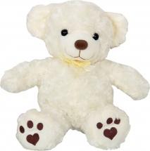 Мягкая игрушка TashaToys Медвежонок с бантиком 25 см