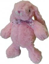 Мягкая игрушка TashaToys Заяц с бантиком 18 см