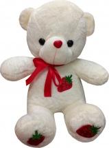 Мягкая игрушка TashaToys Медведь с клубничкой 28 см