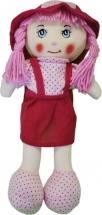 Кукла TashaToys в красной юбочке и шляпке 30 см
