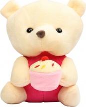 """Мягкая игрушка TashaToys """"Медведь с тортом"""" 16 см"""