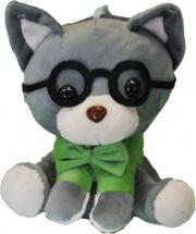 """Мягкая игрушка TashaToys """"Котенок в очках"""" 16 см"""