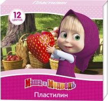 """Пластилин Росмэн """"Маша и Медведь"""" 12 цветов"""