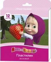 """Пластилин Росмэн """"Маша и Медведь"""" восковой 12 цветов"""