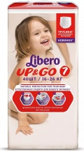 Трусики Libero Up&Go 7 (16-26 кг) 40 шт