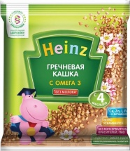 Каша Heinz безмолочная гречневая с Омега-3 с 4 мес 30 г