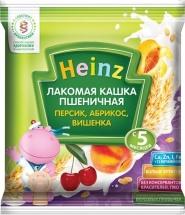 Каша Heinz Лакомая молочная пшеничная абрикос-персик-вишенка с 5 мес 30 г