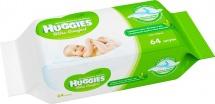 Влажные салфетки Huggies Ultra Comfort с Алоэ 64 шт