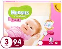 Подгузники Huggies Ultra Comfort для девочек 3 (5-9 кг) 94 шт