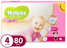 Подгузники Huggies Ultra Comfort для девочек 4 (8-14 кг) 80 шт