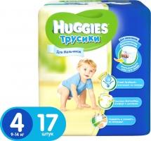 Трусики Huggies для мальчиков 4 (9-14 кг) 17 шт