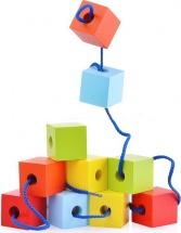 Шнуровка Alatoys Кубики цветные