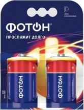 Батарейка Фотон LR20 алкалиновая 2 шт