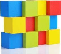 Кубики Alatoys 12 деталей
