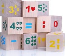 Кубики Alatoys Математика №1 12 деталей