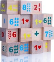 Кубики Alatoys Математика №1 15 деталей