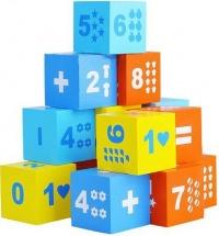 Кубики Alatoys Математика №2 15 деталей