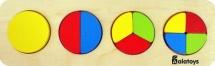 Вкладыш Alatoys Дроби-круги 10 элементов