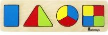 Вкладыш Alatoys Дроби-фигуры 10 элементов