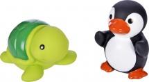 Игрушки для купания Жирафики Черепашка и пингвин
