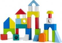 Конструктор Alatoys Городок окрашенный 40 деталей