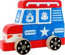 Конструктор-каталка Alatoys Полицейская машина большая