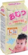 Подгузники Omutsu L (9-14 кг) 5 шт