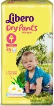Трусики Libero Dry Pants 4 (7-11 кг) 34 шт
