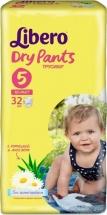 Трусики Libero Dry Pants 5 (10-14 кг) 32 шт