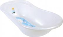 """Ванночка детская """"Ангел"""" со сливом и термометром, 84 см, белый перламутр, Пластик-Центр"""