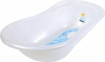 Ванночка Пластик-Центр Ангел со сливом и термометром, белый перламутр