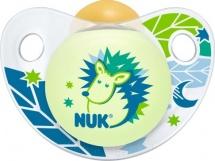 Пустышка Nuk Trendline Night & Day Ежик латекс ортодонтическая с 0 до 6 мес