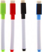 Маркер цветной на водной основе с магнитом 4 шт