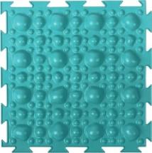 Массажный коврик Орто Камни мягкий 25x25 см, бирюзовый