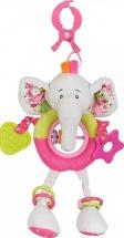 Подвеска Жирафики Слонёнок Тим большая с прорезывателем и погремушками